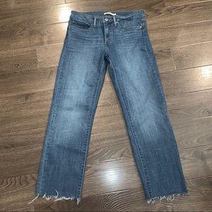 Size 30 Levi's 314 Shaping Straight raw hem
